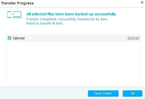 Transfer Progress Window