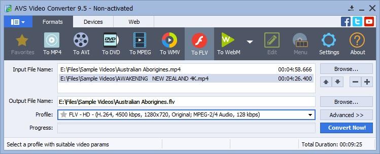 Select Video Files