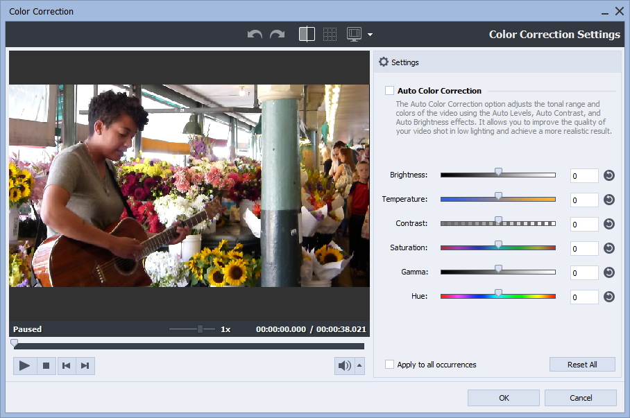 Configuring Color Correction Settings