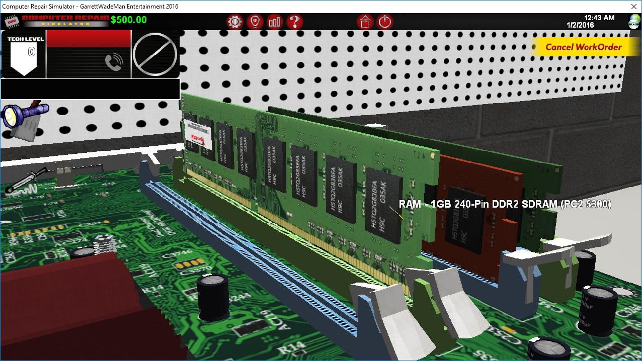 Removing a RAM Memory Stick