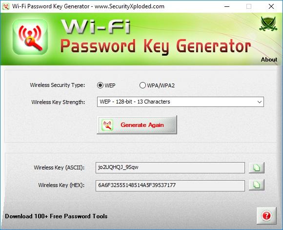 Generate Password Key