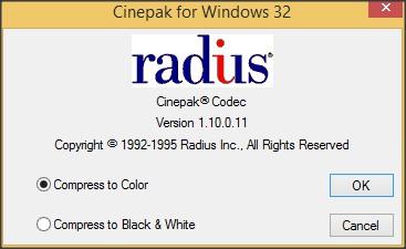 Codec Configuration Window
