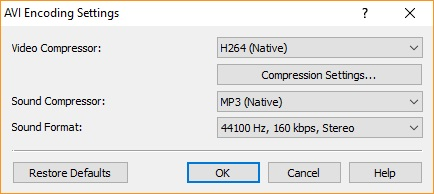 Output Format Settings