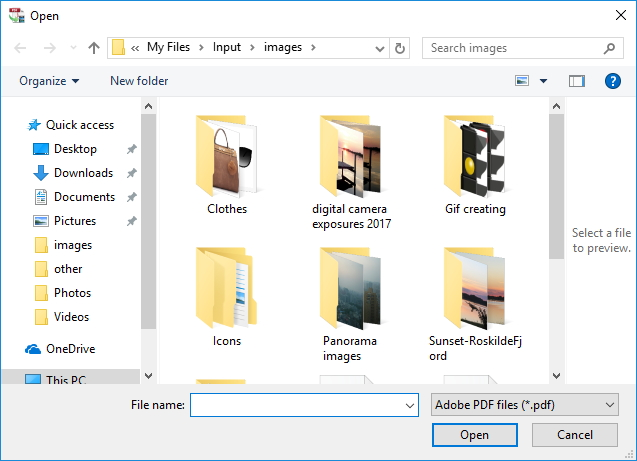 Importing PDFs