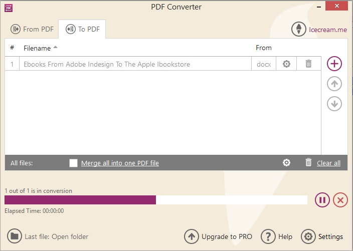 Conversion To PDF in Progress