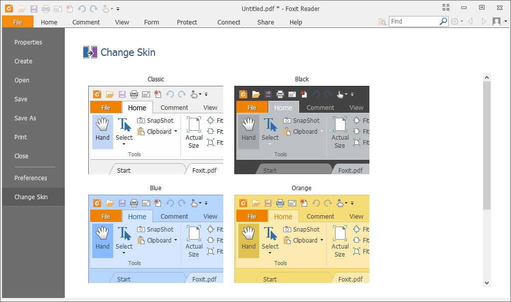 Change Screen