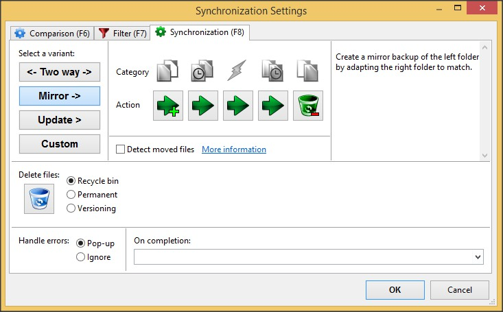 Synchronization Settings