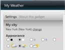 Configuring Weather Gadget Settings
