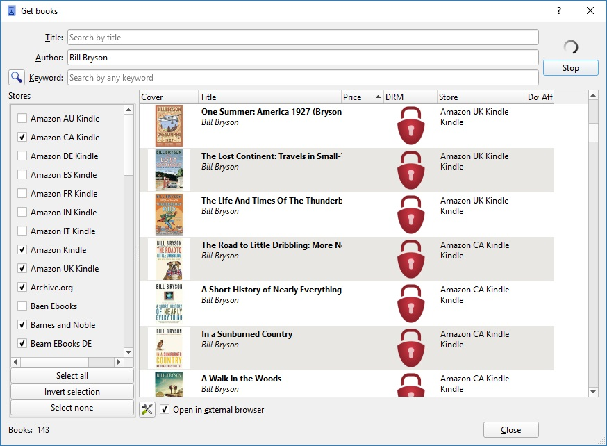 Search E-books
