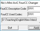 Mini Avic FourCC Changer