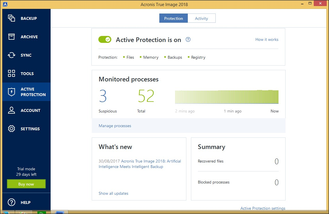 Active Protection Tab