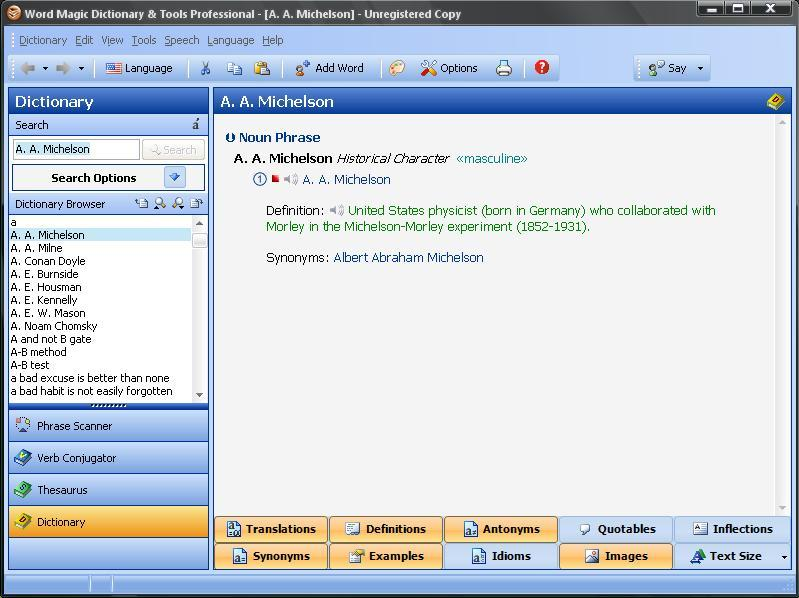 Dictionary & Tools professional