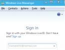 Sign in Window (Messenger)