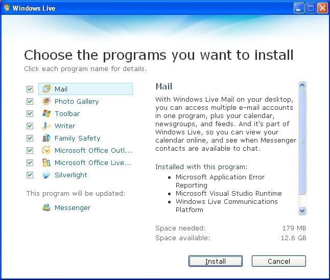 Programs List.