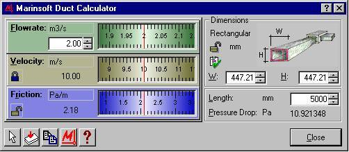 duct sizer software
