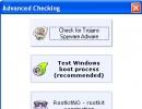 Advanced checking