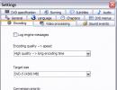 encoding options