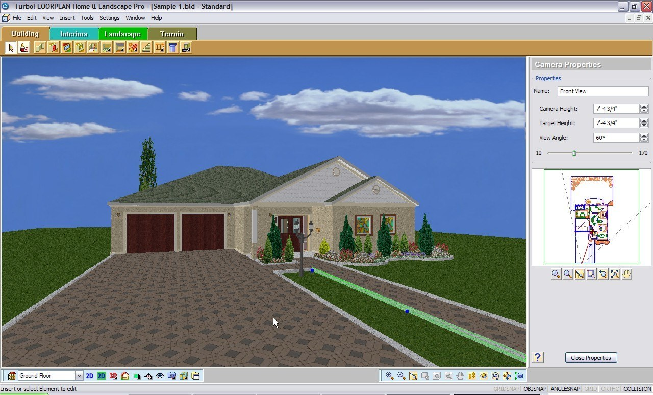 Home landscaping software turbofloorplan home u0026 for Home and landscape design mac