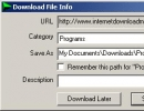 Download Dialog