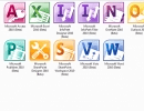 All of the icons from the Office 2010 Professional Plus Beta.
