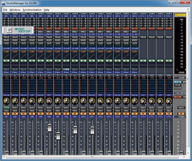 Studio Manager Software Yamaha Screenshot