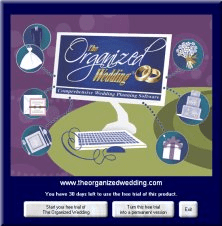 The Organized Wedding interface.