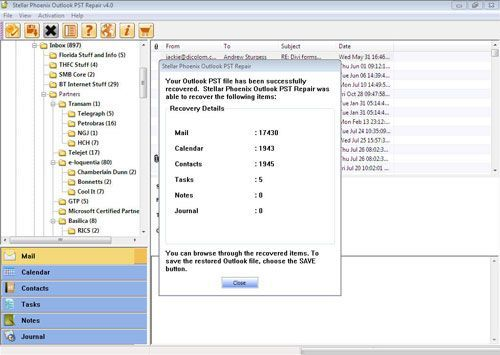Shows how pst repair software repair outlook pst file .