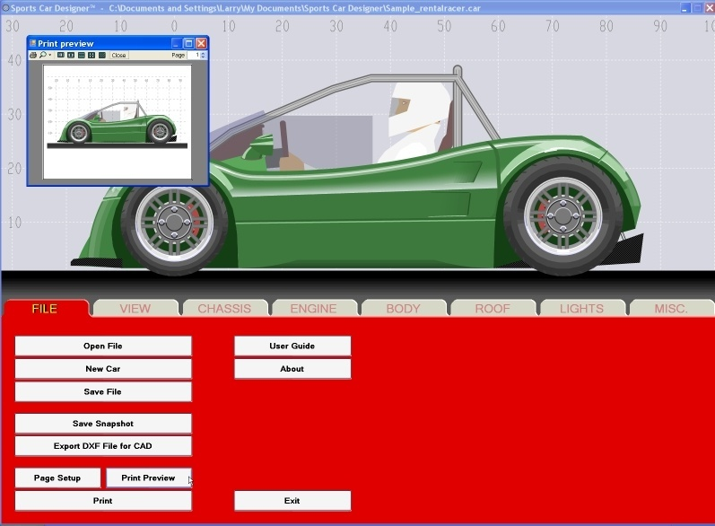 Sports Car Designer Software Informer Screenshots