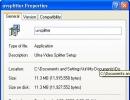 Setup File Properties
