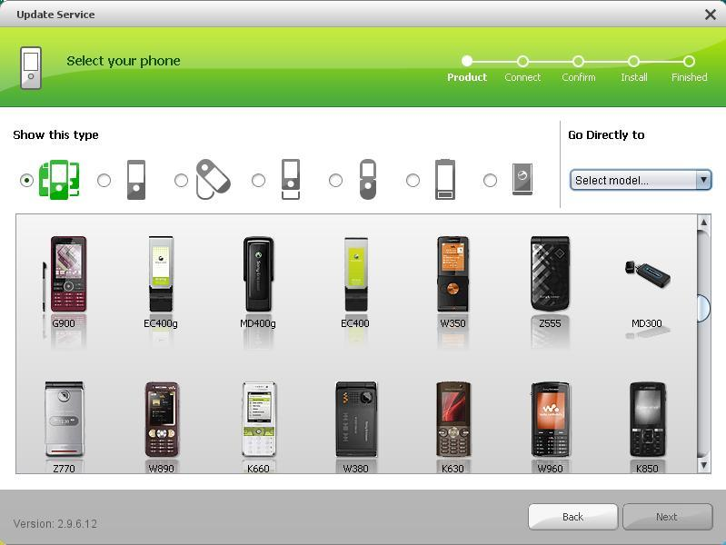Select your phone