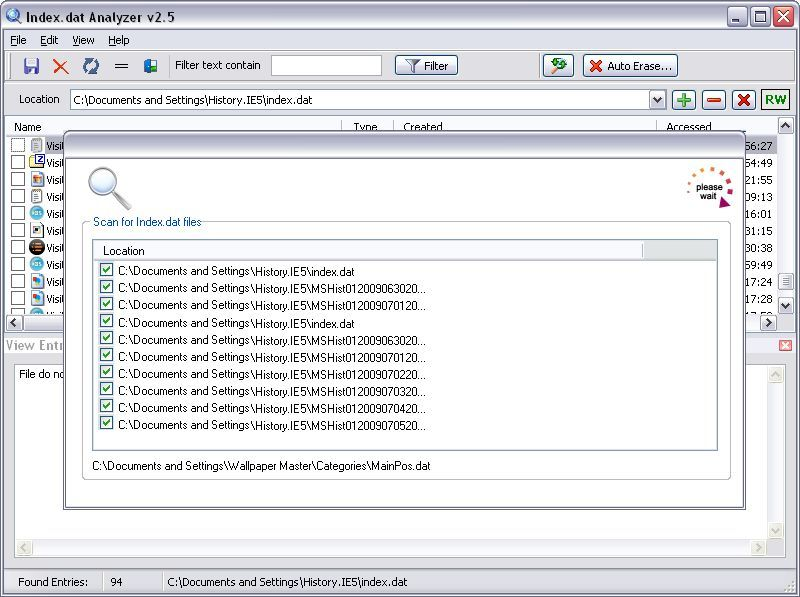 Scanning for Index Files