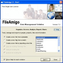 Create New File Option