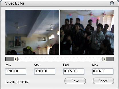Built-in video cutter