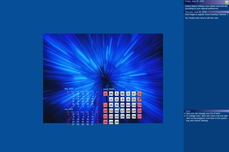 Desktop Calendar Windows 7 : Program active desktop calendar developersamber