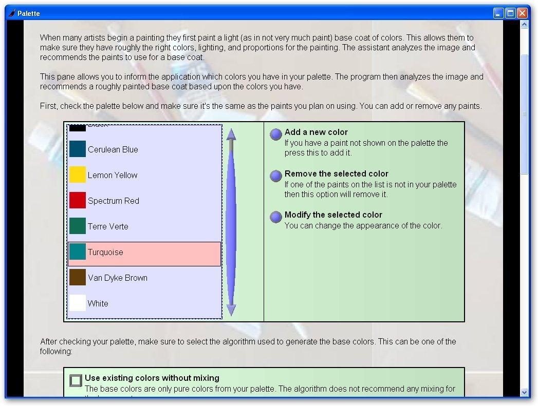Oil Painting Assistant Software Informer Screenshots