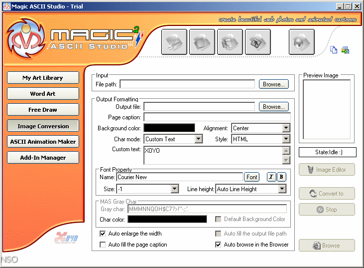 Magic ASCII Studio 2.2 : Conversion.