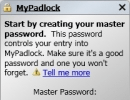 Creating a Master Password