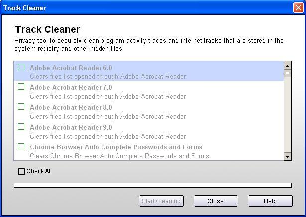 Windows tracks remover