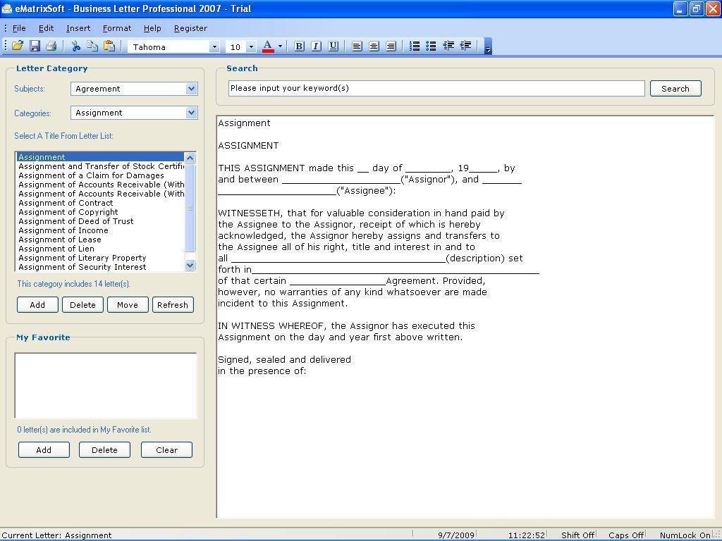 Business Letter Professional Software Informer Screenshots