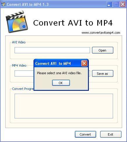 Select AVI video file