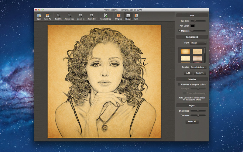 PhotoSketcher screenshot