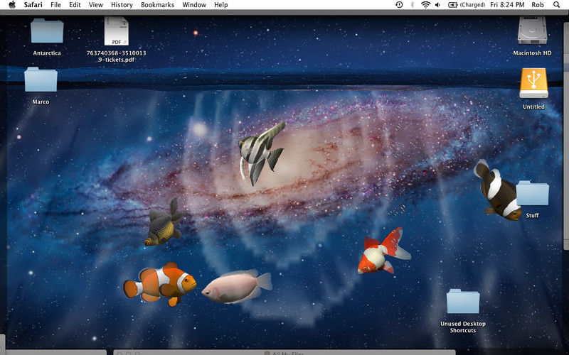 desktop aquarium 3d live wallpaper screensaver mac