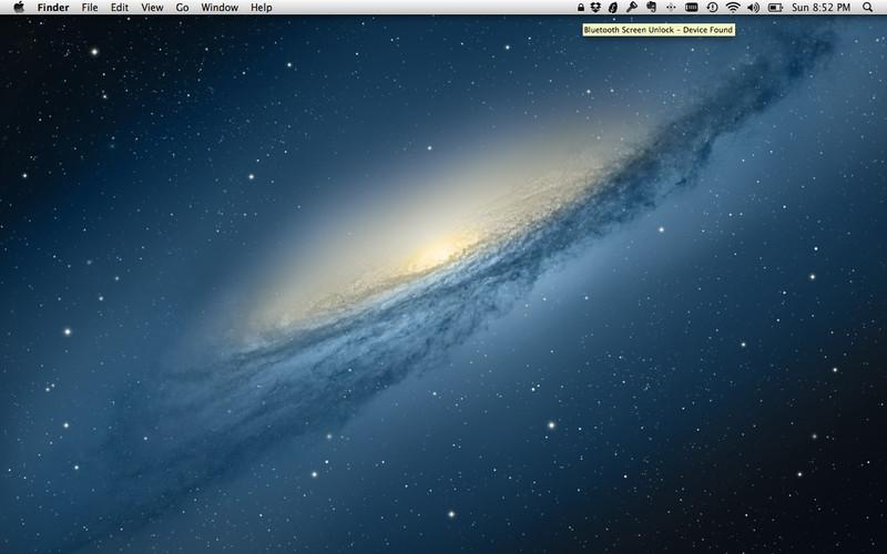 Bluetooth Unlock screenshot