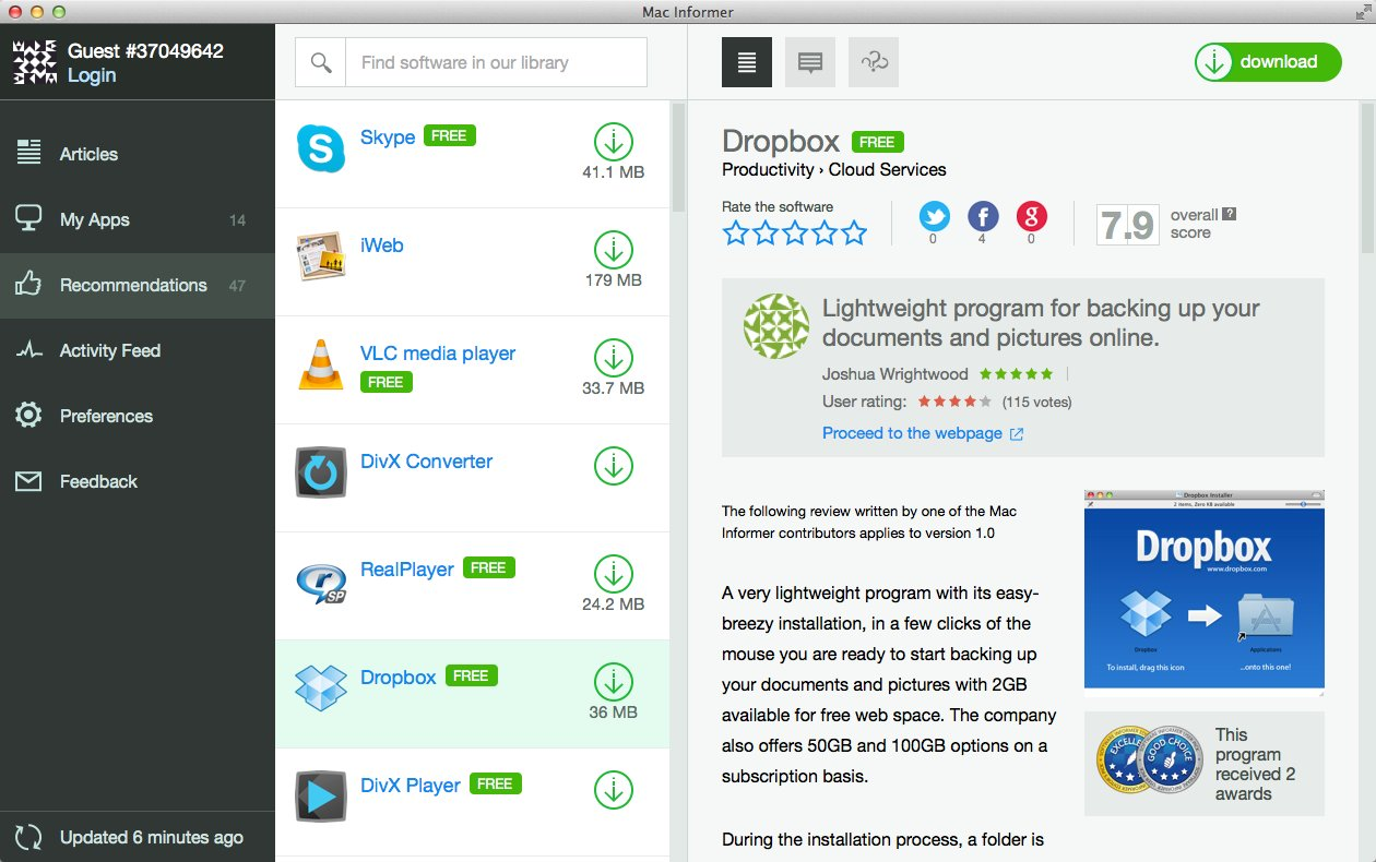 Recommendations Window