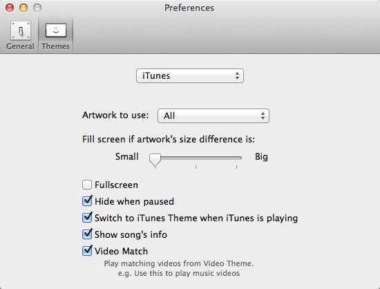 iTunes Options