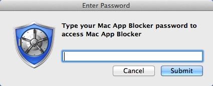 Entering Master Password