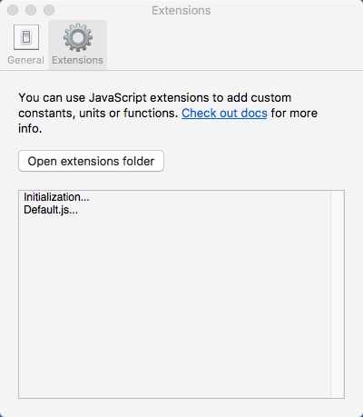 Extensions Window