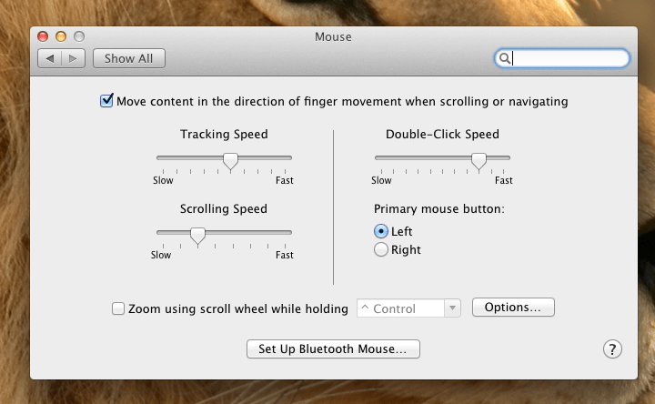 The Natural Scrolling Checkbox in Mac OS 10.7