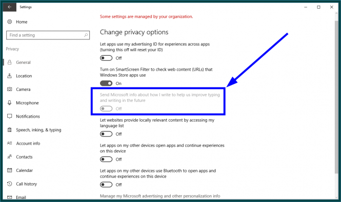 Disabling the Windows 10 keylogger