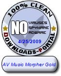 AV Music Morpher Gold Clean Award